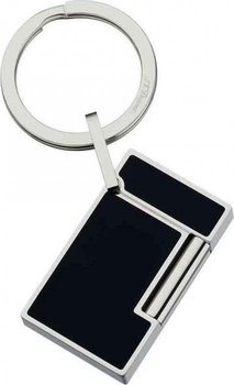Key Ring Ligne 2 – Lighter Stainless Steel And Black Lacquer