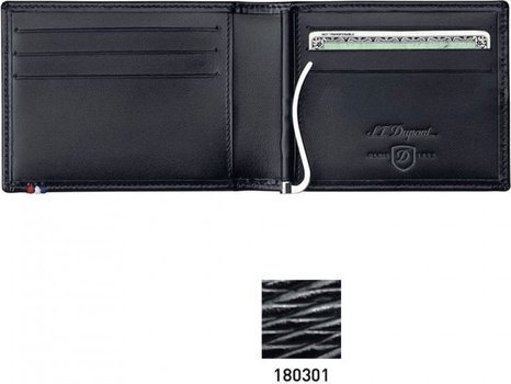 Line D Money Clip And Space For Credit Cards – Black Contraste