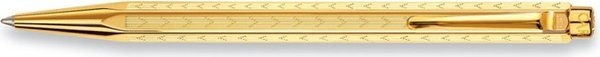 Caran d'Ache Ecridor Chevron Retractable Ballpoint Pen Gold-Plated Large Engraving Space