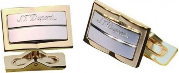 Palladium And Yellow Gold Cuff Links