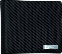 S.T. Dupont Défi Billfold Holder & Id Papers -Black Carbone 170002