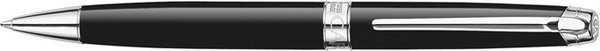 Caran d'Ache Léman Twist Ballpoint Pen Ebony Black / Silver and Rhodinized