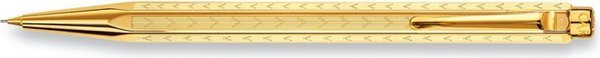Caran d'Ache Ecridor Chevron Mechanical Pencil Gold-Plated