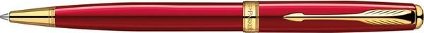 Parker Sonnet Twist Mechanism Ballpoint Pen Red Lacquer Gold Trim