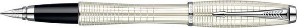 Parker Urban Premium Fountain Pen Pearl Lacquer Chiselled / Chrome Trim