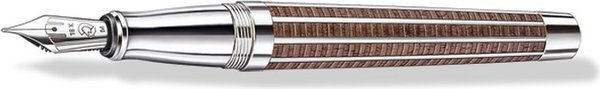 Staedtler Princeps Fountain Pen Black Walnut Wood