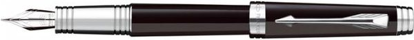 Parker Premier Fountain Pen Lacquer Deep Black / Silver Trim