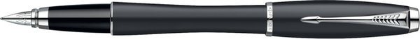 Parker Urban Fountain Pen Black Lacquer / Chrome Trim