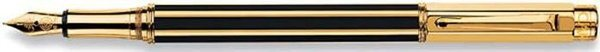 Caran d'Ache Varius China Black Fountain Pen Gold Trim
